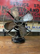 """Antique Westinghouse Electric Fan 12"""" Tank Motor Brass Cage And Blades Works"""