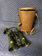 Vintage Barr And Stroud Royal Navy Military Binoculars With Case