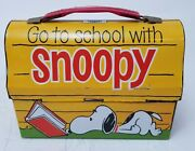 Charles Schults' Snoopy Dog House Peanuts Domed Tin Lunchbox