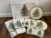 Spode Christmas Tree Lot Placemats Napkins Kitchen Towels Pimpernel Coasters