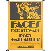 """Vintage Faces W Rod Stewart Rory Gallagher Pacific Presentations Poster 22 X 16"""""""