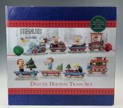 Jim Shore Peanuts Deluxe Holiday Train Set Factory Sealed Rare D-16