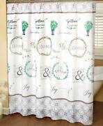 Farmhouse Bathroom Shower Curtain Rustic Country Primitive Friends Family Home