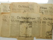 Lot Of 10 Vintage Stars And Stripes Military Newspaper 1918 1919 Newspapers