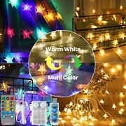 9m/15m 60/100led Twinkle Stars String Lights Remote Andtimer Dimmable Waterproof