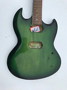 Green Burst Guitar Double Cutaway Body, Maple Neck And Rosewood Fretboard Fit Sg