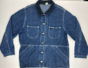 Leeand039s Vintage Riveted Menand039s Denim Jacket 100 Cotton Size = Medium Made In Usa