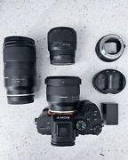 Sony A7 Iii With 3 Lenses 2 Batteries And Sigma Mc-11 Ef To Fe Adapter
