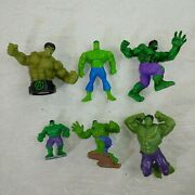 The Incredible Hulk Action Figure Lot Toys Marvel Comics Cake Topper Statue