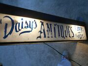 Daisey's Antiques-lamps And Gifts-lighted Steel Box Sign