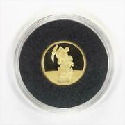 Disney Rarities Mint 1/4 Troy Oz 999 Gold Sneezy From Snow Whites 50th Annivers