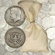 100 Face Value 90 Silver Halves - 200 Total Coins 1964 And Before