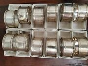 Reed And Barton Sterling Silver Napkin Rings With Boxes 12 Total Vintage, Rare