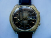Etna Brainmatic Swiss Alarm Date Day Mechanical Automatic 25 Jewels As 5008 Mens