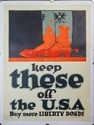 1917 Keep These Off The Usa Poster By John Norton Wwi Vintage Original Linen