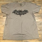 Disney Haunted Mansion Authentic Tee T-shirt Double Sided 2xl Raised Bat Puzzle