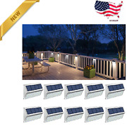 Fence Lights, Solar Deck Lights Outdoor With 30 Led Waterproof Step Lighting New