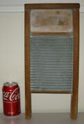 Vintage Antique Jewel Washboard Tin And Wood Primitive Rustic Laundry Room Decor