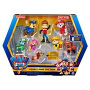 Paw Patrol The Movie Liberty Joins The Team 8 Pack Figures Brand New