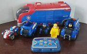 Paw Patrol Bundle Mission Cruiser Pup Pad And 5 Vehicles With Sounds Tested/work.