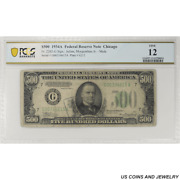 1934a 500 Federal Reserve Note Fr. 2202-g Chicago Pcgs 12 Fine