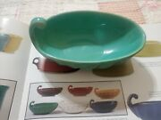 Bauer Vintage Pottery Handled Pickle Dish Swirl - Jade Euc Ring Ware