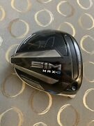 Taylormade Sim Max-d Driver 10.5 Head Only Rh With Head Cover And New Rh Adapter
