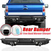 Rear Bumper Guard W/ Led Work Lights D-rings + Hand Warmer For 09-2014 Ford F150