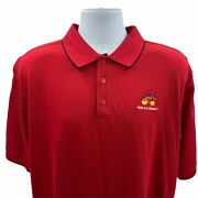 Cutter And Buck Wells Fargo Polo Shirt Large Red Wagon