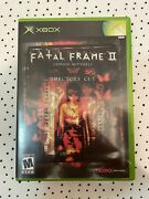 Fatal Frame 2 Crimson Butterfly Directors Cut Xbox Full Cib With Manual And Card