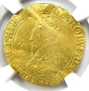1632 - 33 Britain England Gold Double Crown 4.23g Charles I Ngc Fine Details