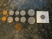 Lot Of 13 Different Bermuda Bahamas Columbia And Mexico Coins 1964-1971