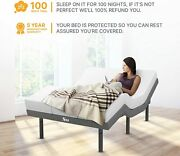 Adjustable Queen Size Bed Frame With 14 Mattress Massage Wireless Remote Usb