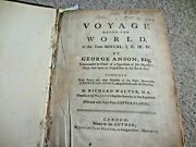 Orig. 1748 - A Voyage Round The World By George Anson 1st Edition 1st Printing