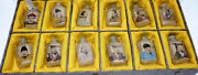 Set 12 Snuff Bottles Crystal Painted China Portrait Emperor Chinese