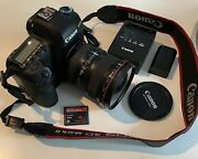 Canon 5d Mark Ii Digital Camera With 17-40mm Lens Battery Charger 16gb Card