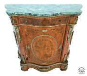 Spectacular Ormolu Mounted French Louis Xv Style Marble Top Sideboard Dry Bar