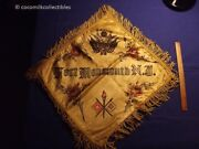 1940's Us Army Pillow Case Fort Monmouth New Jersey Nj Ww Ii 2 Base Logo War