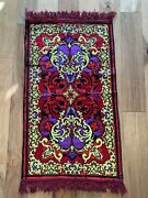 Vintage Wwii Era 1950s Handmade 3and039 X 2and039 Prayer Rug Bright Colors Persian Turkish