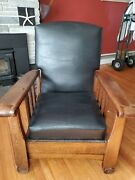 Antique Royal Easy Mission Arts And Crafts Reclining Lounge Morris Chair