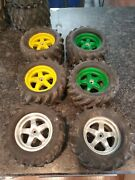 Lot Of 6 Traxxas T-maxx Rc Truck Tires/rims - Used
