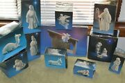 Lot Of Andnbspvintage Avon Nativity Collectibles W/ Box-white Porcelain 1982
