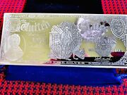 4 Oz Bar .999 Pure Silver 5 Note In Bullion Series Of 1907