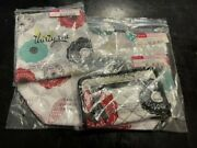 Thirty One / 31 New Organic Poppy Soft Wallet Thermal Tote And Memory Pouch