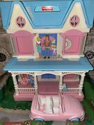 Fisher Price Victorian Dollhouse Great Gift 🎁 Girls Mini Toys Furniture Figures