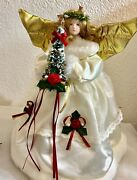 Lighted Angel Tree Topper 12 Christmas Porcelain Face Traditions
