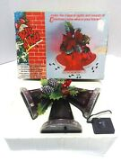 Vintage 1979 Musical Lighted Bells Of Noel By Calfax Inc. Christmas Red W/ Box