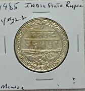 India Princely State Of Mewar Silver Rupee 1928 Unc