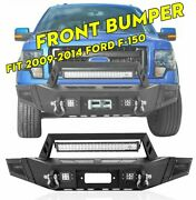Front Bumper W/ Led Work Lights Bar D-ings Winch Plate For 2009-2014 Ford F-150