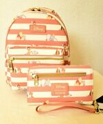 Disney Loungefly Pooh And Bff's Mini Backpack And Tech Wallet / So Adorbs Nwt